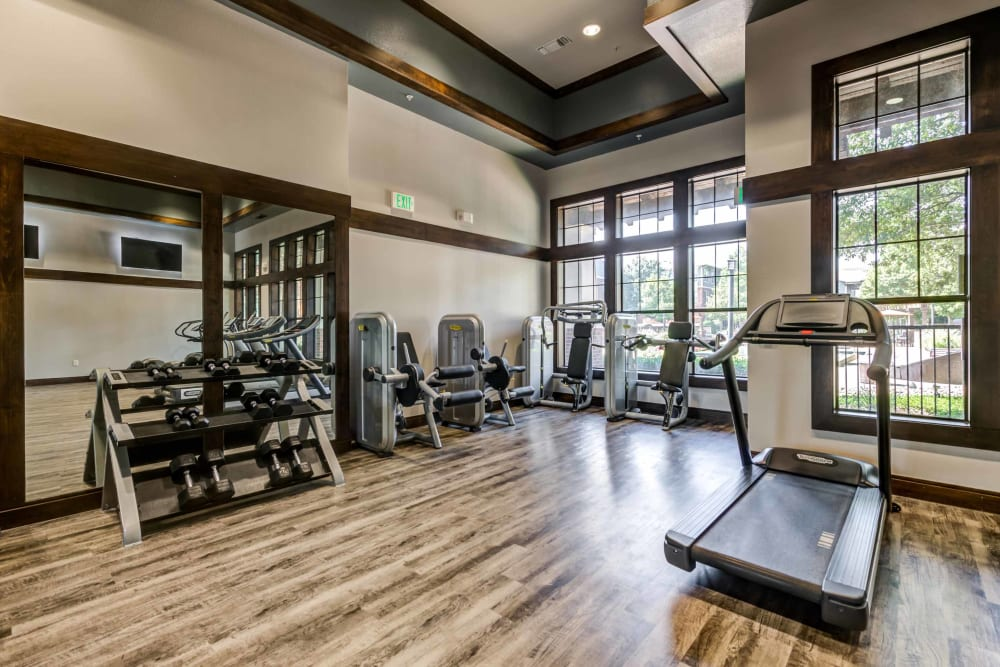 Onsite gym offered at Terrawood in Grapevine, TX