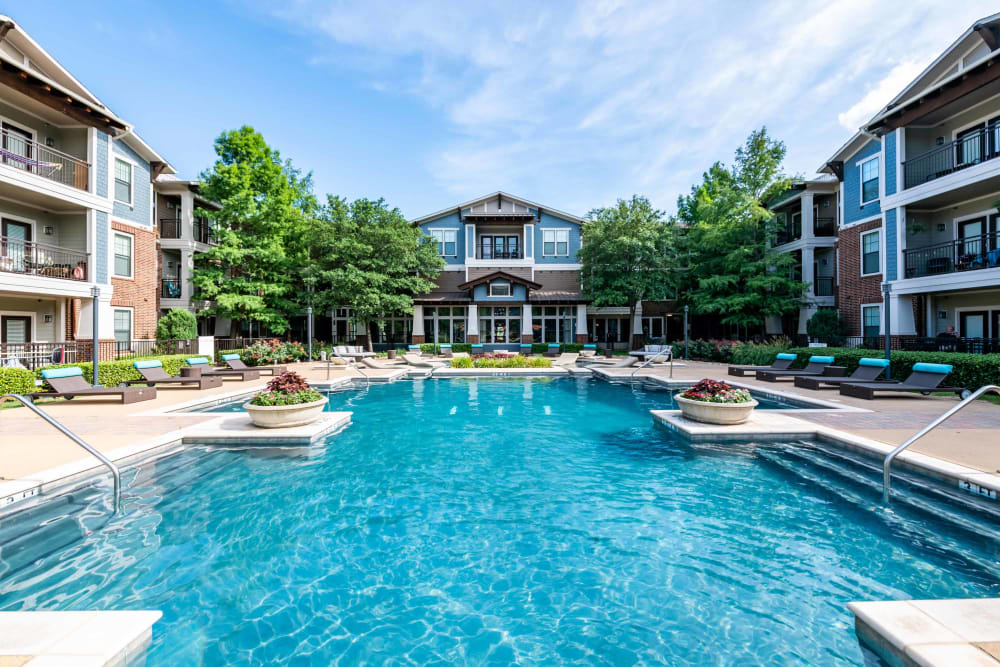 Glimmering pool at Terrawood in Grapevine, TX