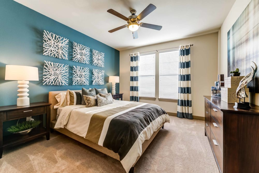 Cozy bedroom at Terrawood in Grapevine, TX
