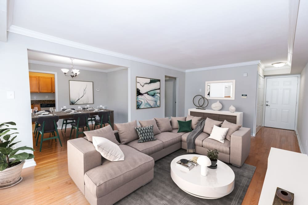 Open concept living at The Ashford Apartment Homes