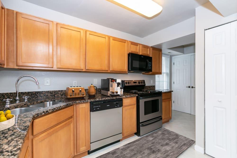 Kitchen at The Ashford Apartment Homes