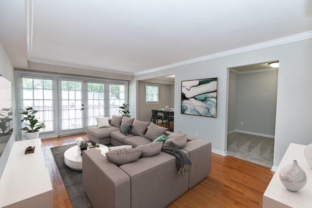 Living Room at The Ashford Apartment Homes