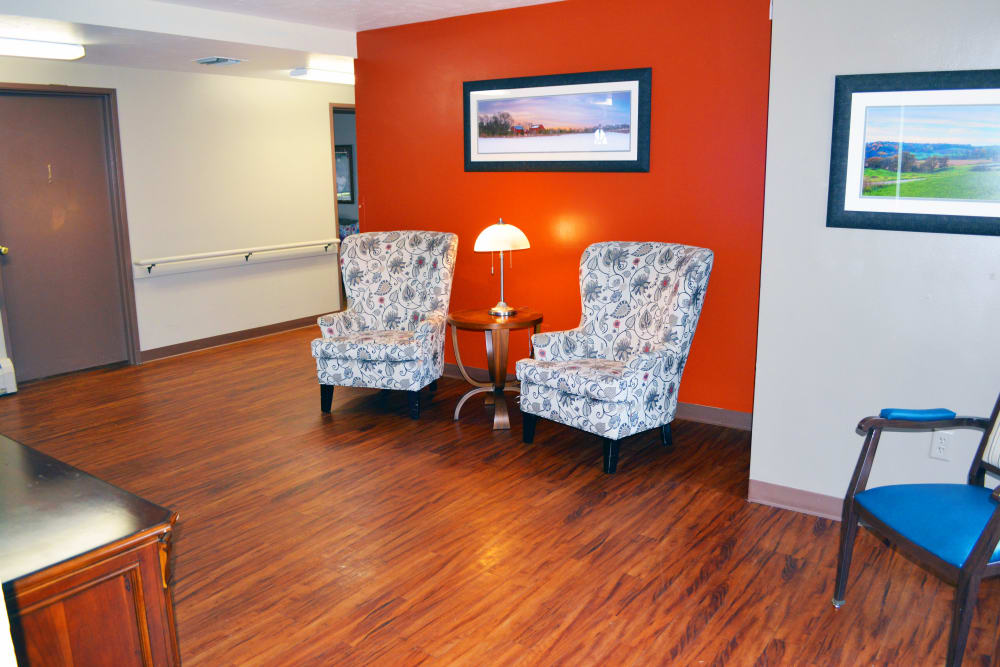 Seating area at Wyndemere Assisted Living