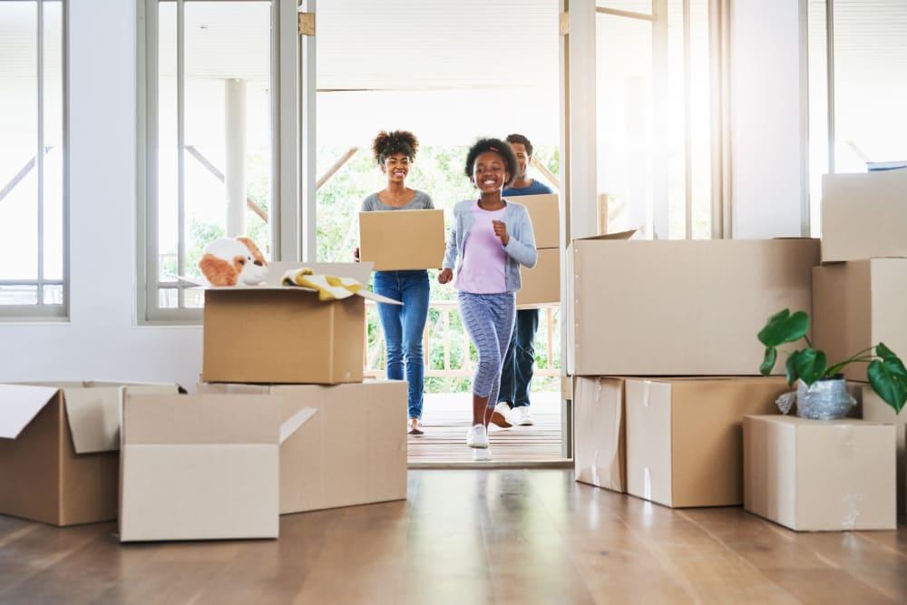 Family packing their home in Bellingham, Washington near Urban Storage on Bennett