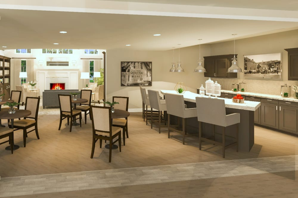 The cafe at Boonesboro Trail Senior Living in Winchester, Kentucky