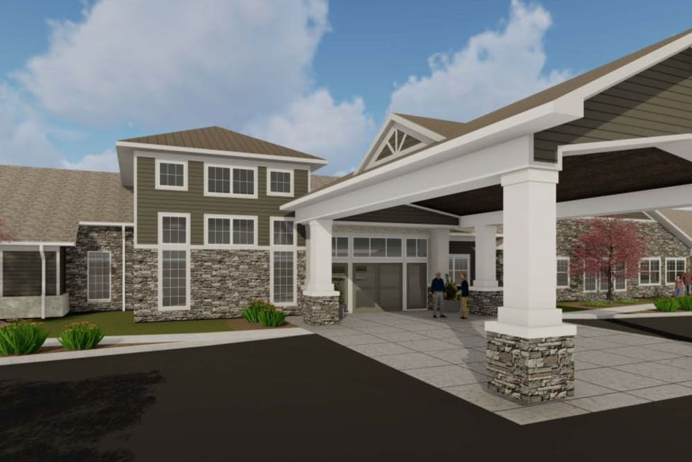 Exterior of main building at Boonesboro Trail Senior Living in Winchester, Kentucky.