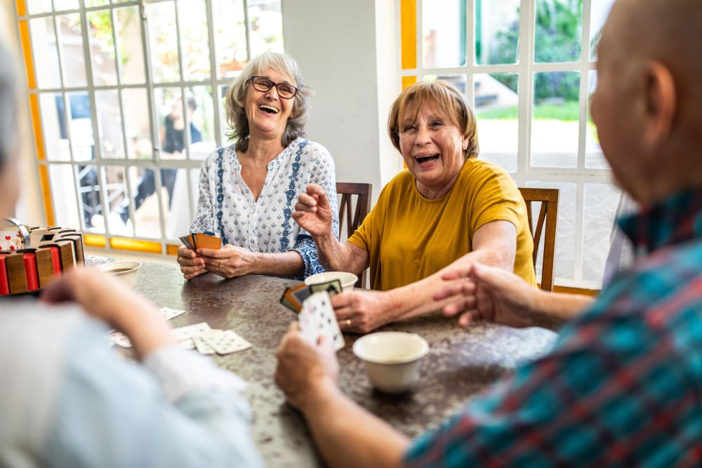 Residents playing a game at Merrill Gardens.
