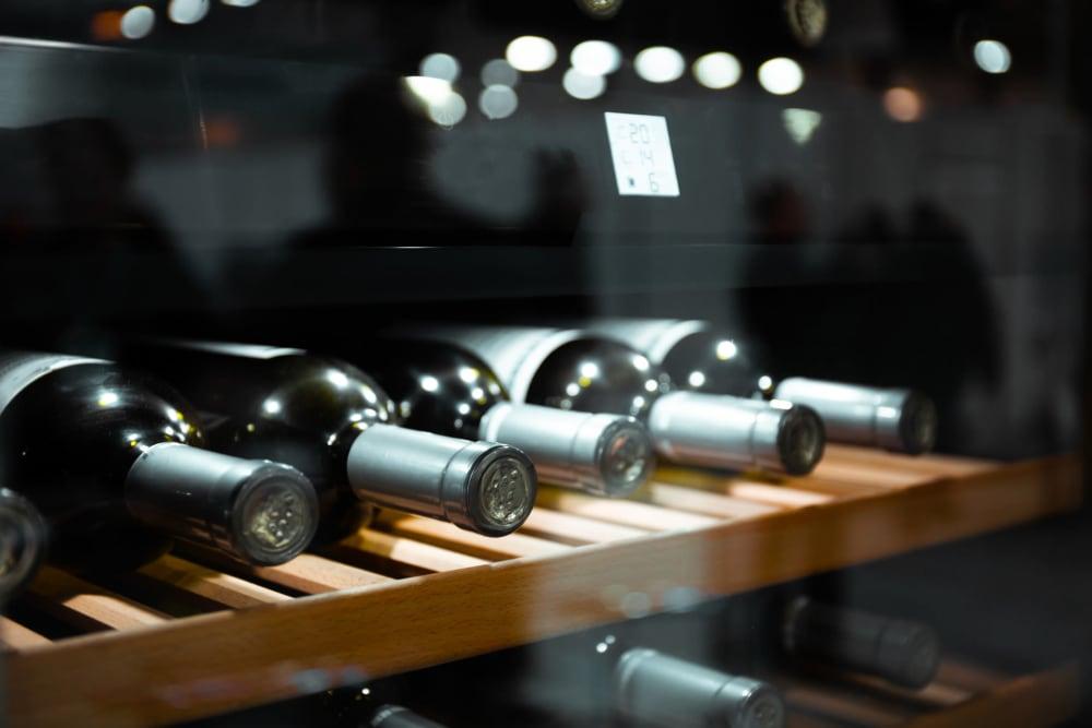 Wine bottles at Storage Star Napa in Napa, California