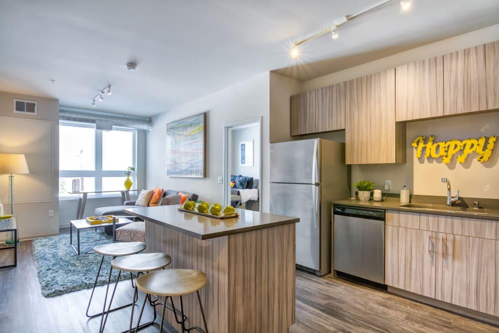 Modern Kitchen at The Link Minneapolis | Student Apartments in Minneapolis, Minnesota