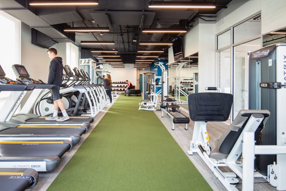 Fitness center for residents at evolve on Main in Pullman, Washington