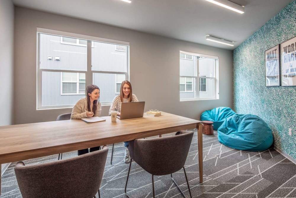 Private study space at evolve on Main in Pullman, Washington