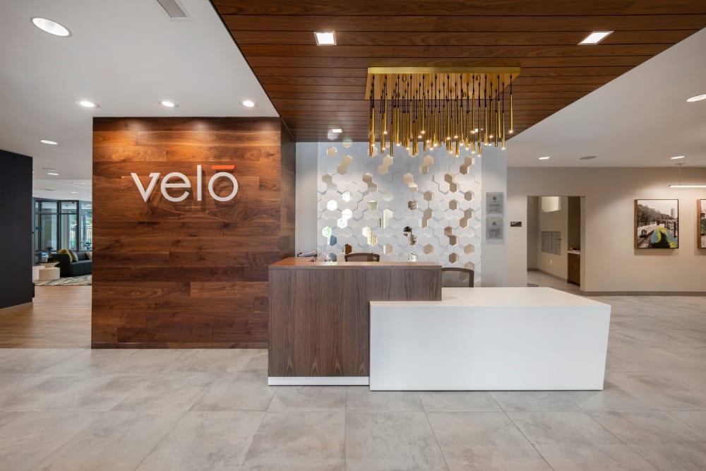 Entrance area at Velō in Boston, Massachusetts