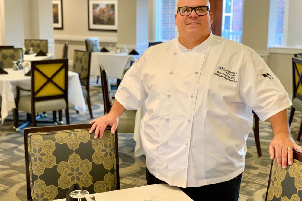 Delicious meals prepared by a chef at Harmony at Brookberry Farm in Winston-Salem, North Carolina