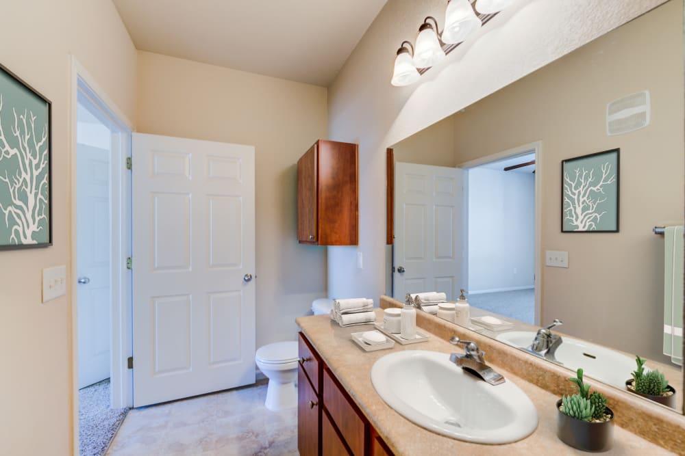 Spacious bath at Ingleside Apartments in North Charleston, South Carolina