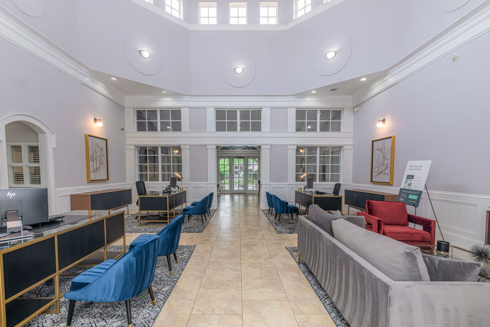 Leasing office at The Lyndon in Irving, Texas