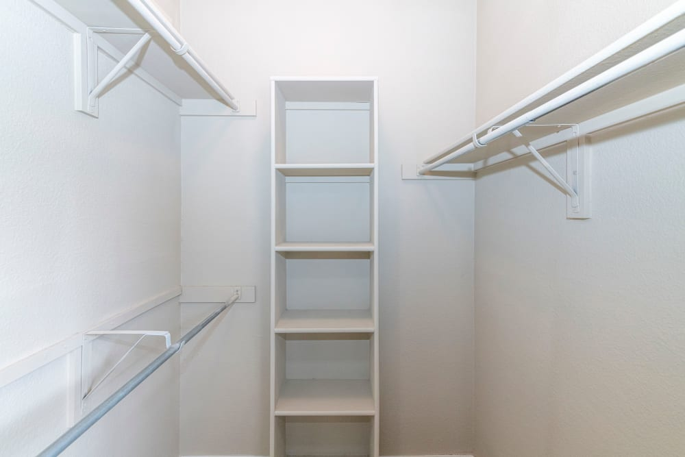 Large walk-in closet at The Lyndon in Irving, Texas