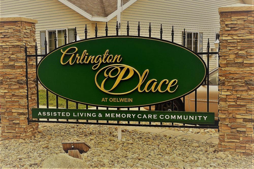 Signage outside of Arlington Place Oelwein in Oelwein, Iowa