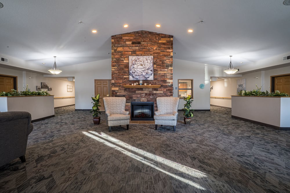 Large lounge with lots of space at Traditions of Owatonna in Owatonna, Minnesota