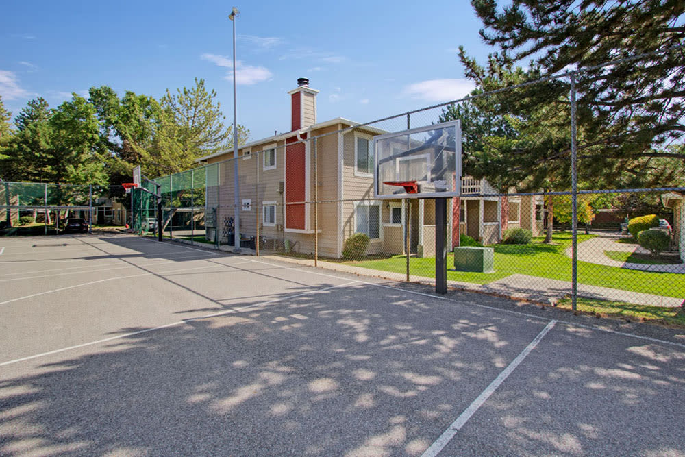 Basketball court on site at Overlook Point Apartments in Salt Lake City, Utah