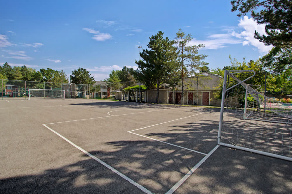 Outdoor ball court at Overlook Point Apartments in Salt Lake City, Utah