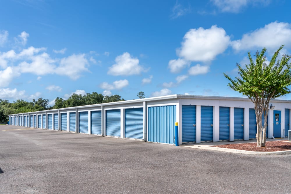 Plenty of outdoor units at Atlantic Self Storage in St Augustine, Florida