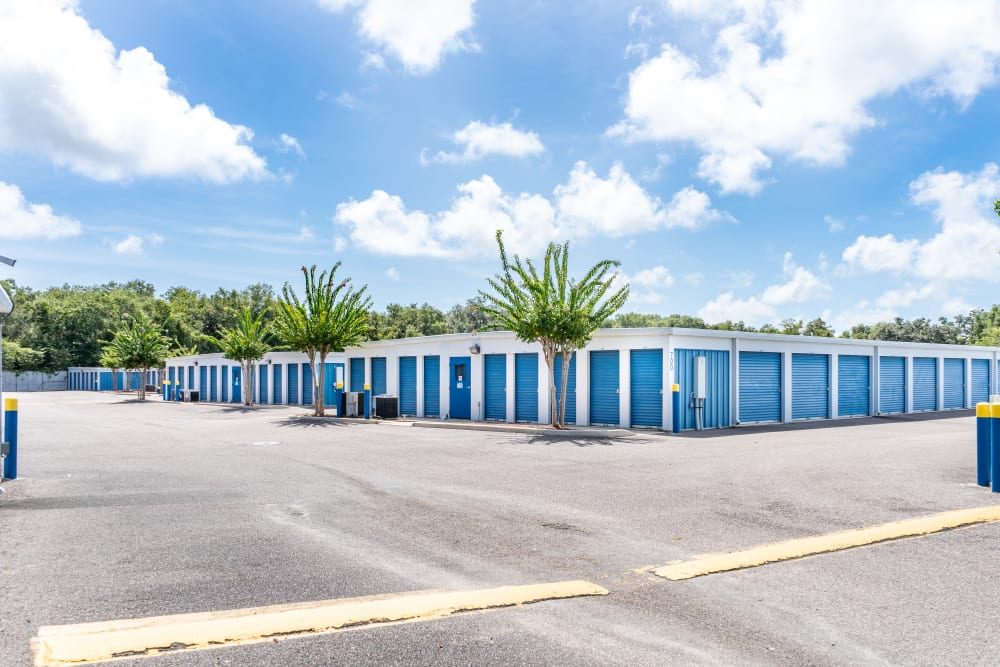 View of units from outside at Atlantic Self Storage in St Augustine, Florida