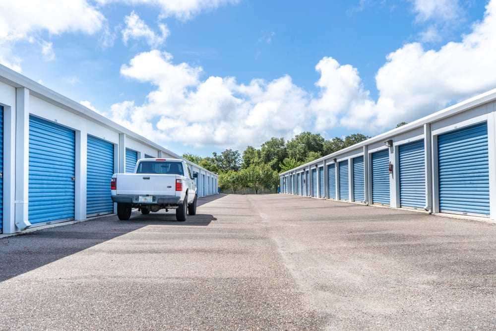 Large outdoor units at Atlantic Self Storage in St Augustine, Florida