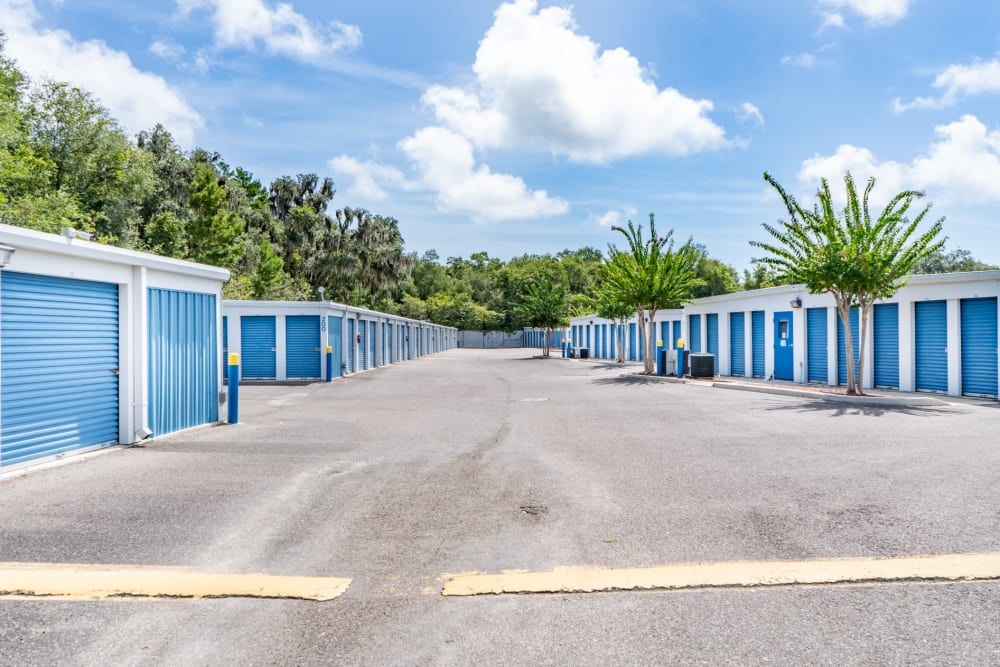 Plenty of large units outside at Atlantic Self Storage in St Augustine, Florida