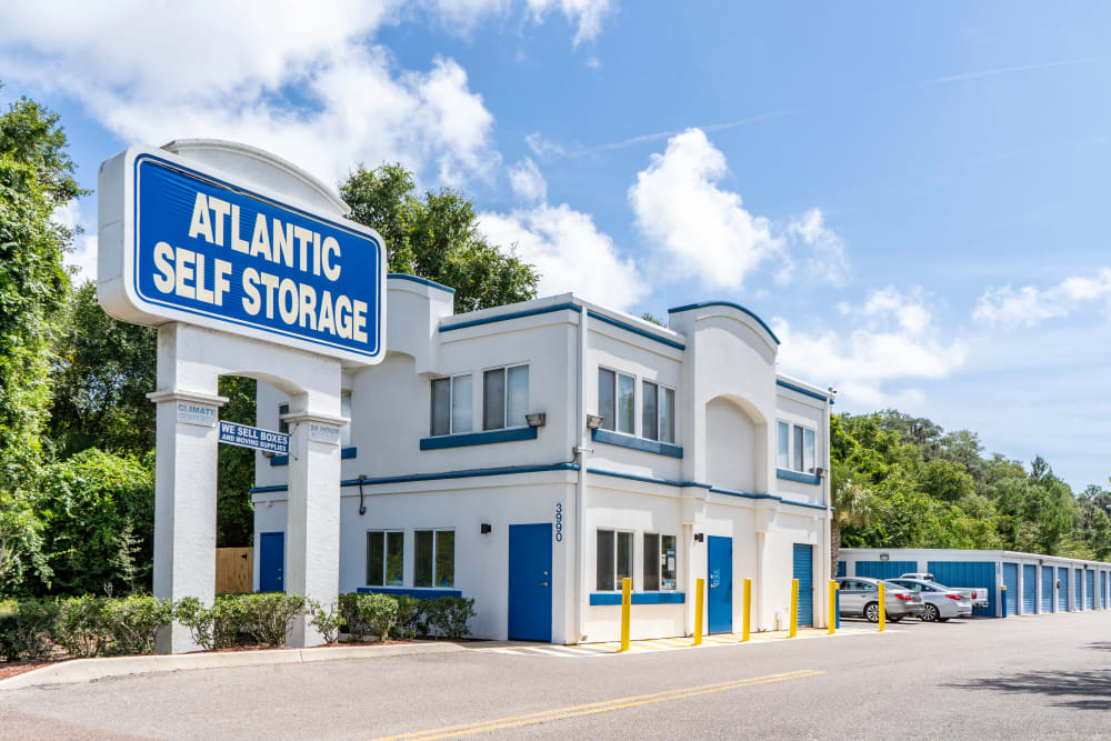 Front entrance at Atlantic Self Storage in St Augustine, Florida