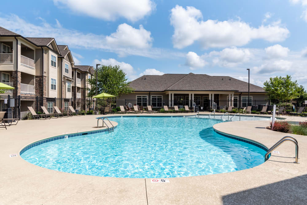 Swimming pool  for residents at Commonwealth at 31 in Spring Hill, Tennessee