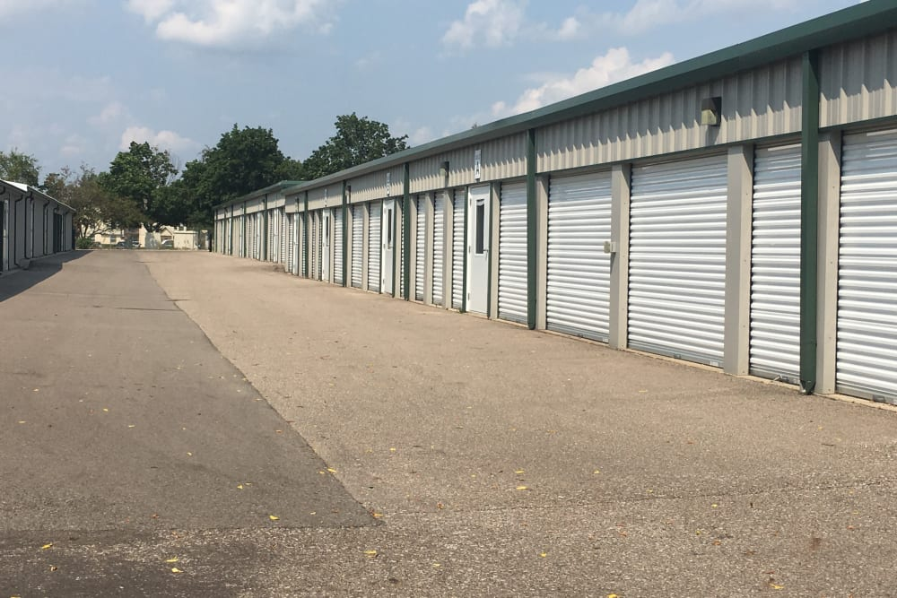 View of outdoor units at Devon Self Storage