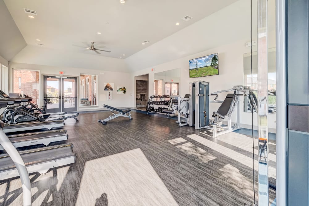 State of the art gym at The Emerson at Forney Marketplace