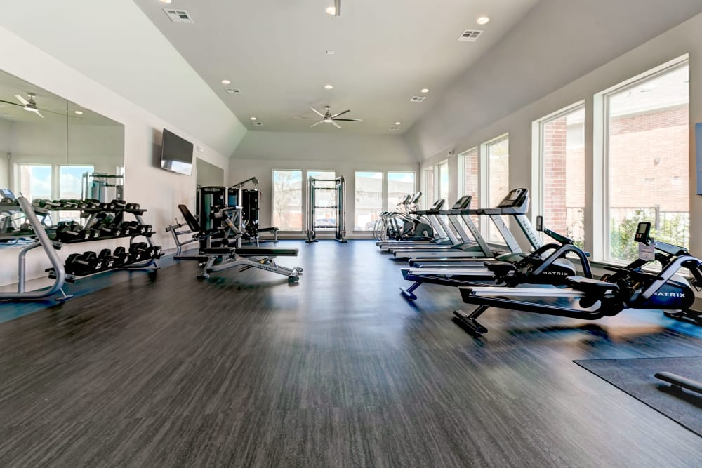 Fitness center at The Emerson at Forney Marketplace