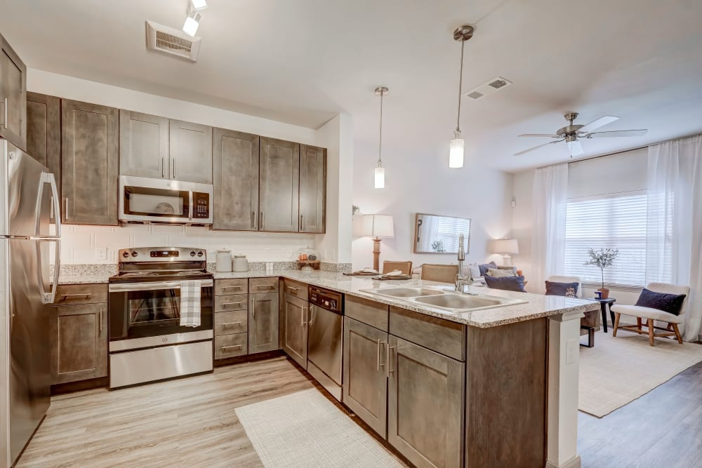 Model kitchen at The Emerson at Forney Marketplace