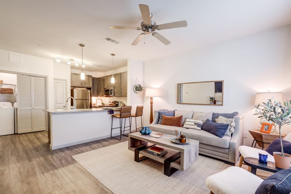Spacious living room at The Emerson at Forney Marketplace