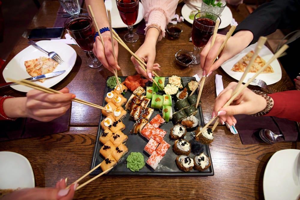 Colorful, delicious sushi in Minneapolis, Minnesota near The Link Minneapolis