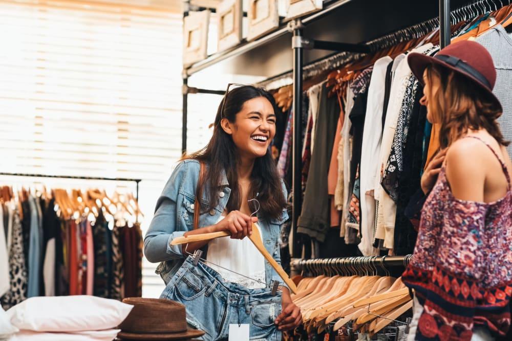 Friends shopping for clothes near IDENTITY Reno in Reno, Nevada