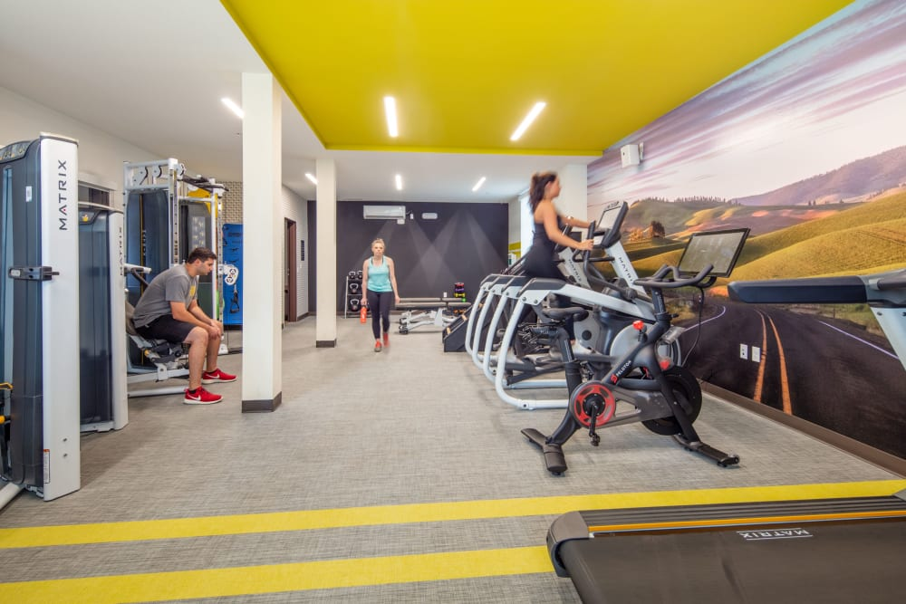 Well equipped fitness center at IDENTITY Moscow in Moscow, Idaho