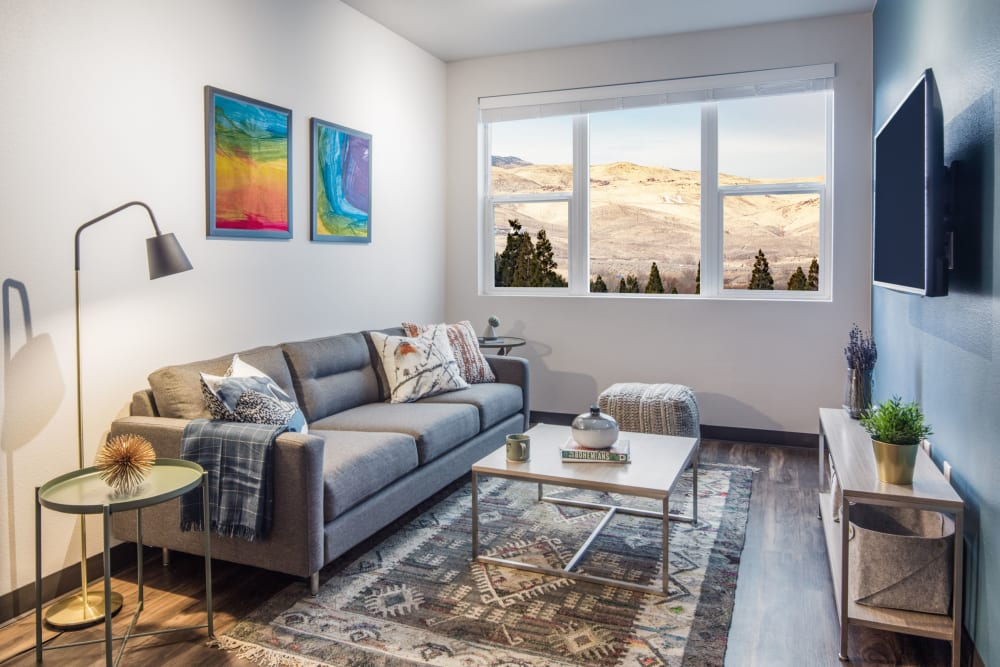Well decorated living room at IDENTITY Reno in Reno, Nevada