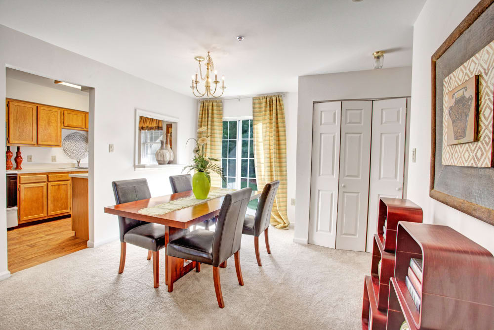 Our Luxury Apartments in Exton, Pennsylvania showcase a dining room