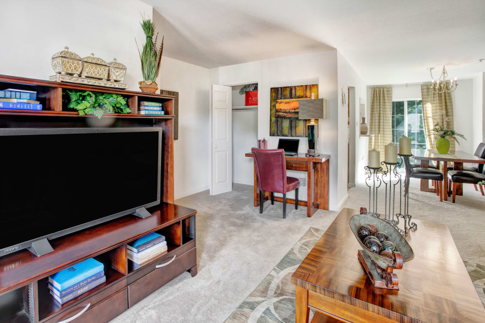 Our Quiet Apartments in Exton, Pennsylvania showcase a Living Room