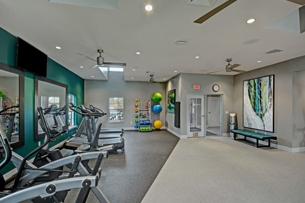 Spacious Fitness Center at Exton Crossing in Exton, Pennsylvania