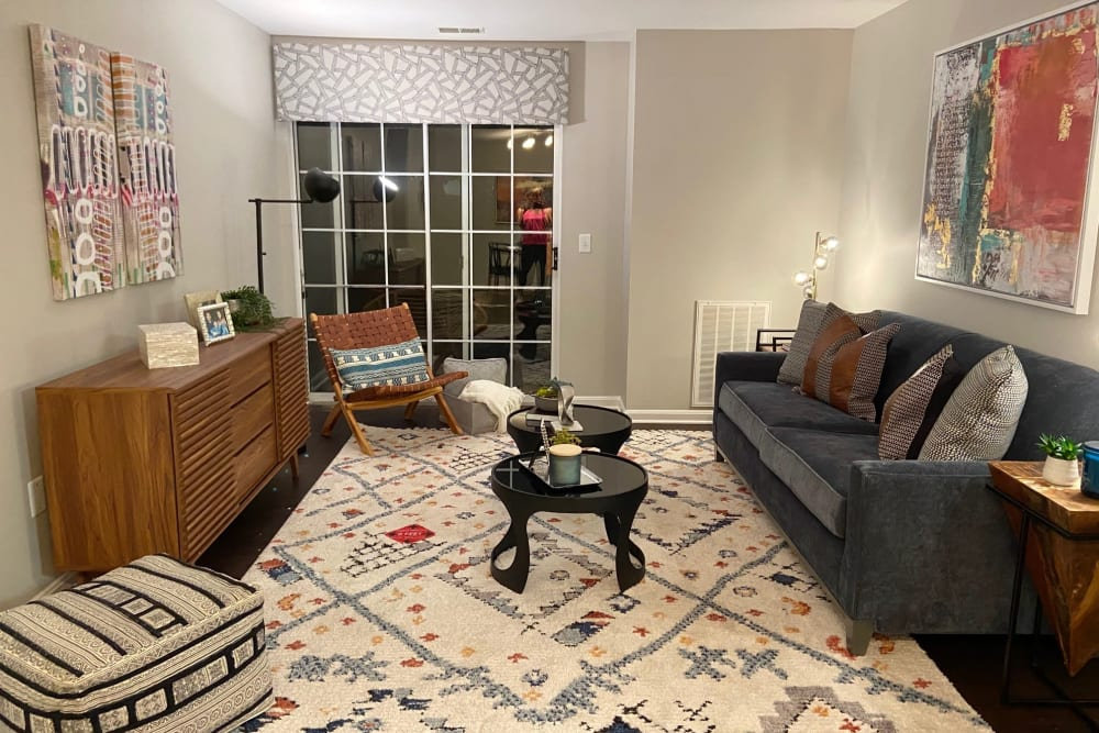 Living Room at The Reserve at Ballenger Creek Apartments apartments in Frederick, Maryland