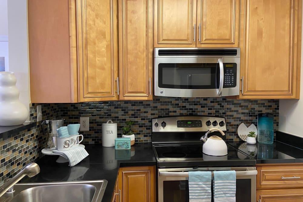 Kitchen at Abbotts Run Apartments in Alexandria, Virginia.
