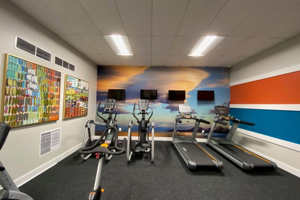 Fitness Center at Abbotts Run Apartments in Alexandria, Virginia.