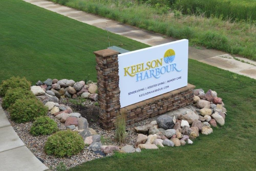Signage for Keelson Harbour in Spirit Lake, Iowa