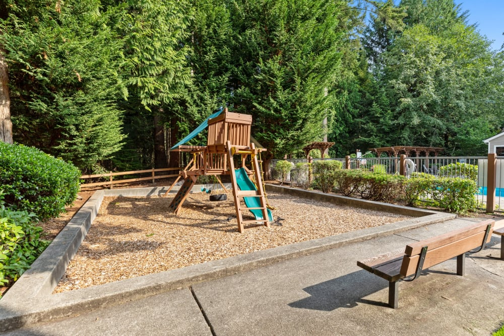 The playground at Wildreed Apartments in Everett, Washington