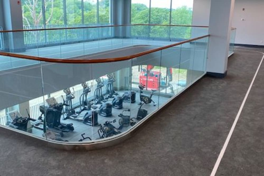 View of fitness center from above at Monarch at Ridge Hill in Yonkers, New York