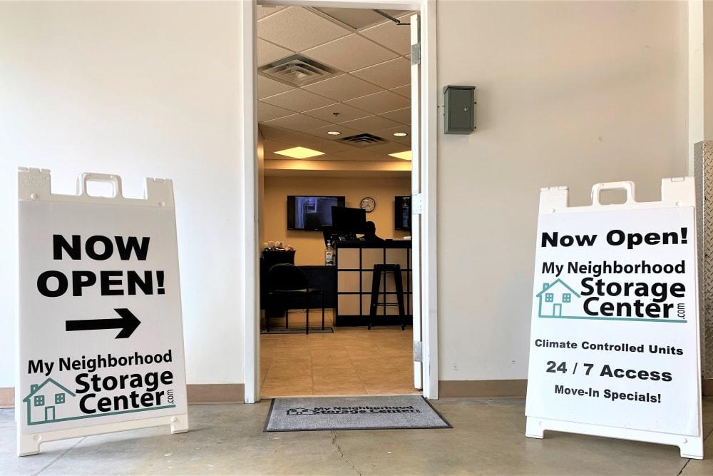 Main office at My Neighborhood Storage Center in Raleigh, North Carolina
