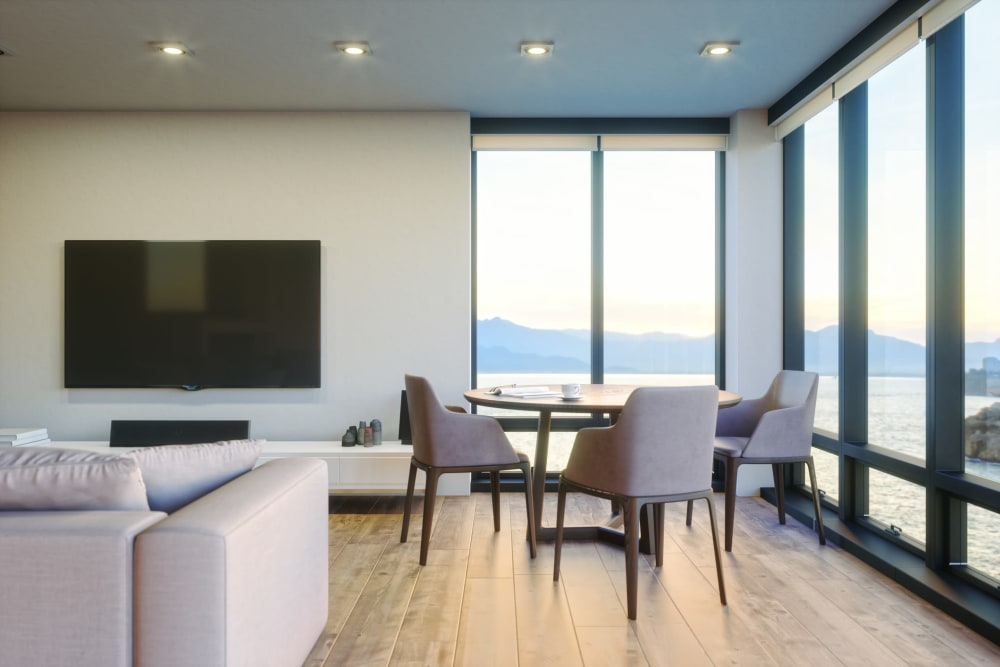 Live/work unit with an amazing view of the harbor at Portside Ventura Harbor in Ventura, California